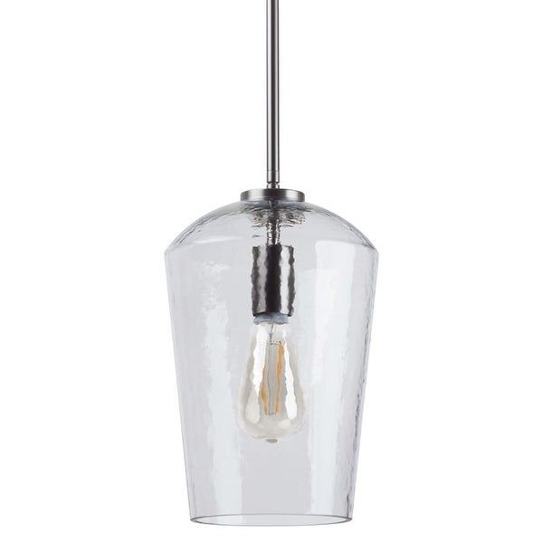 """Miseno MLIT158899 1 Light 9.25"""" Wide Pendant with Hammered Glass Shade"""