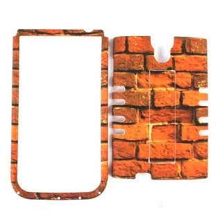 Unlimited Cellular Rocker Snap-On Case for Samsung Galaxy S4 (Red Bricks)