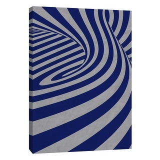 """PTM Images 9-109016  PTM Canvas Collection 10"""" x 8"""" - """"Cobalt Swirls D"""" Giclee Abstract Art Print on Canvas"""