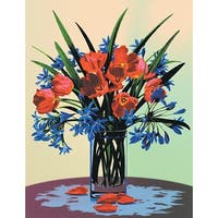 "Paint By Number Kit Artist Canvas Series 9""X12""-Floral Still Life"