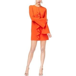 Shop Rachel Zoe Womens Mini Dress Ruffled A Line Free