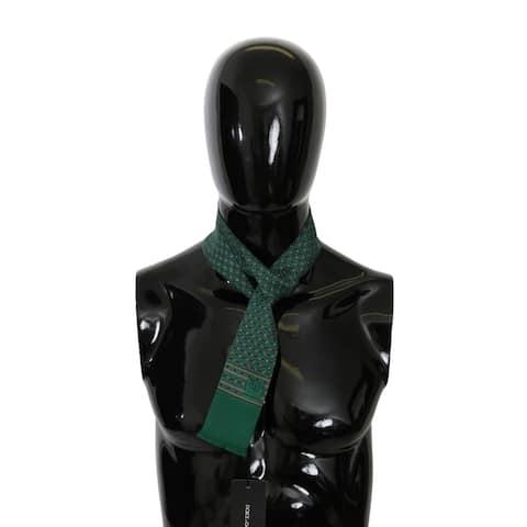 Dolce & Gabbana Green Baroque Slim Wrap Shawl Silk Men's Scarf - one-size