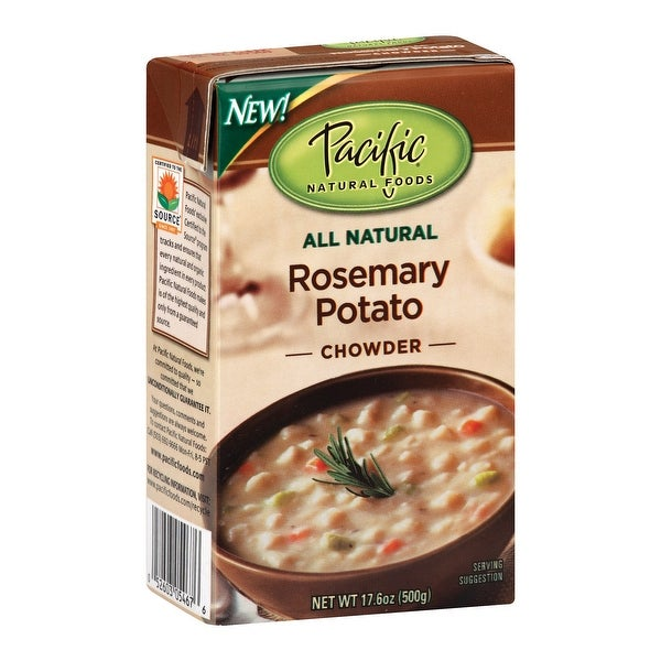 Pacific Natural Foods Chowder - Rosemary Potato - Case of 12 - 17 oz.