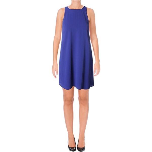 Lauren Ralph Lauren Womens Casual Dress Keyhole High-Low