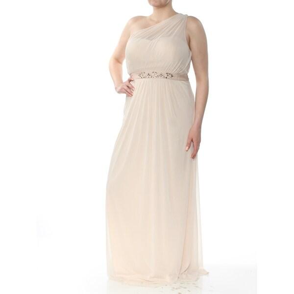 Shop ADRIANNA PAPELL Womens Ivory Embellished Sleeveless ...