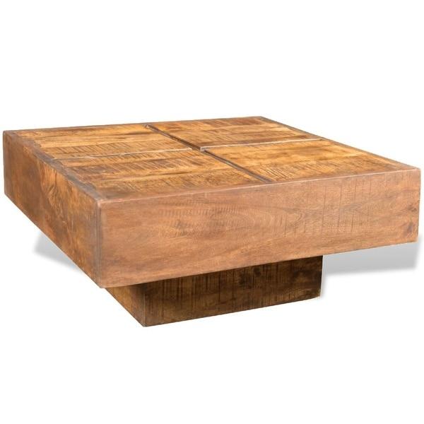 vidaXL Coffee Table Brown Square Solid Mango Wood