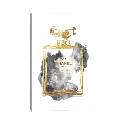 "iCanvas ""Perfume Bottle, Gold & Grey"" by Amanda Greenwood Canvas Print"