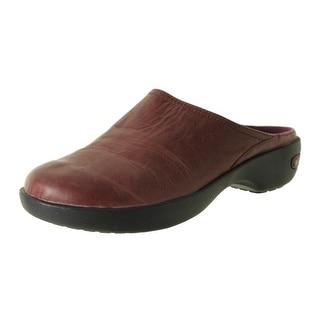 Crocs Womens Cobbler 2.0 Leather Slide Clogs - 4.5