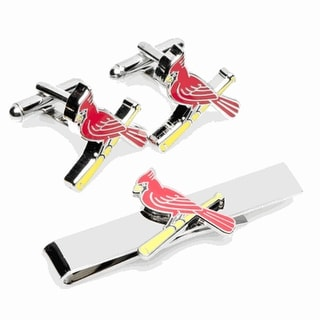 St. Louis Cardinals Cufflinks and Tie Bar Gift Set MLB - Red