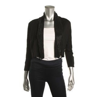 Calvin Klein Womens Shrug Sweater Jeweled Open Front