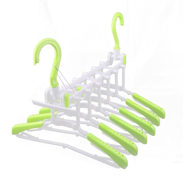 Shop Plastic Wardrobe Foldable Multifunction 6 Hangers