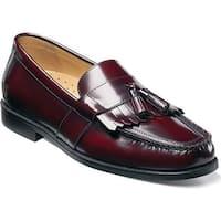 Nunn Bush Men's Keaton 84198 Moc Toe Kiltie Tasseled Slip On Burgundy Leather
