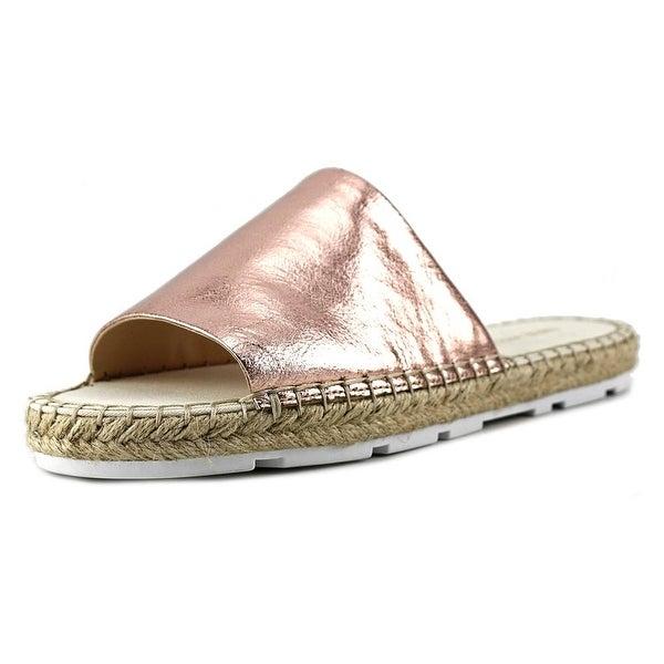 Nine West Davinia Open Toe Leather Slides Sandal