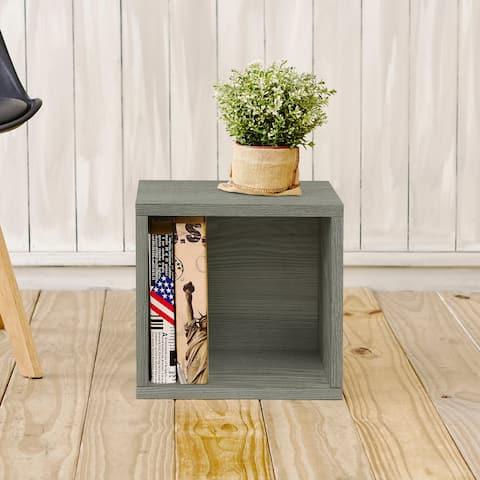 Way Basics Wylie Eco Stackable Storage Cube Cubby, Storage and Organizer, Grey