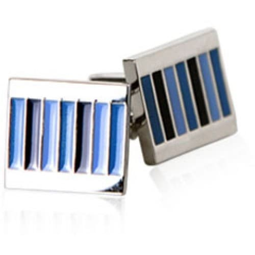 Blue Pinstripes Cufflinks