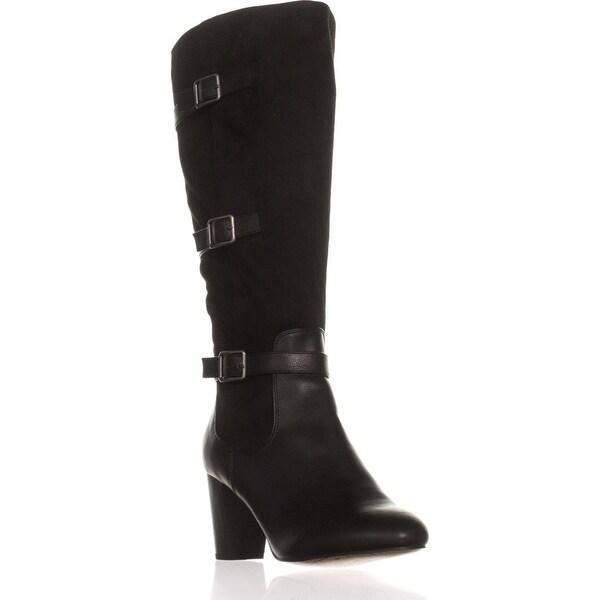 Bella Vita Talina II Tall Harness Boots, Black/Super Suede