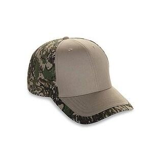 New Six Panel Cotton Twill Camo Cap Adult Mens Women Hat (BFT.KHAKI)