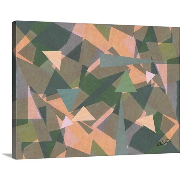 """Triangle Medley"" Canvas Wall Art"
