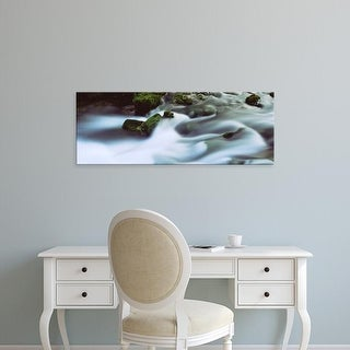 Easy Art Prints Panoramic Images's 'Stream flowing, Alley Spring, Ozark National Scenic Riverways, Missouri' Canvas Art