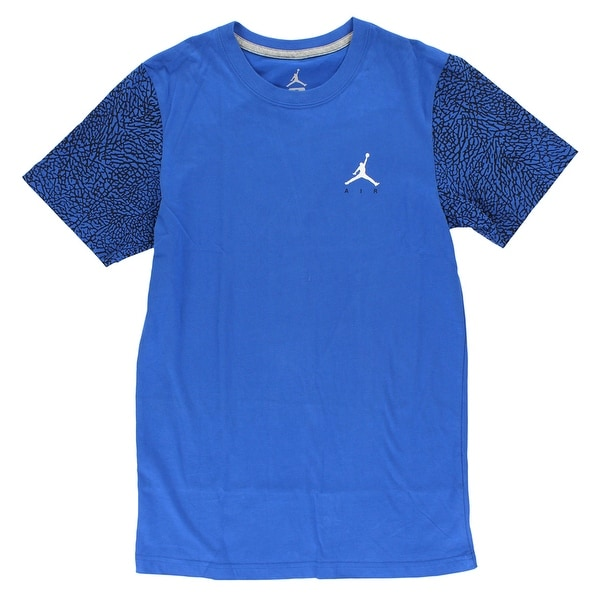 cd8ef74ad39637 Shop Jordan Mens Elephant Sleeve T Shirt Blue - Blue Black White - s - Free  Shipping Today - Overstock - 22615316