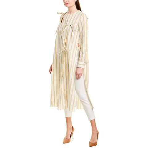 Oscar De La Renta Linen-Blend Tunic
