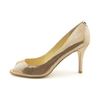 Ivanka Trump Cleo 5 Open-Toe Leather Heels