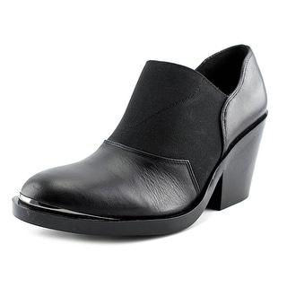 Naya Acre Women Round Toe Leather Black Bootie