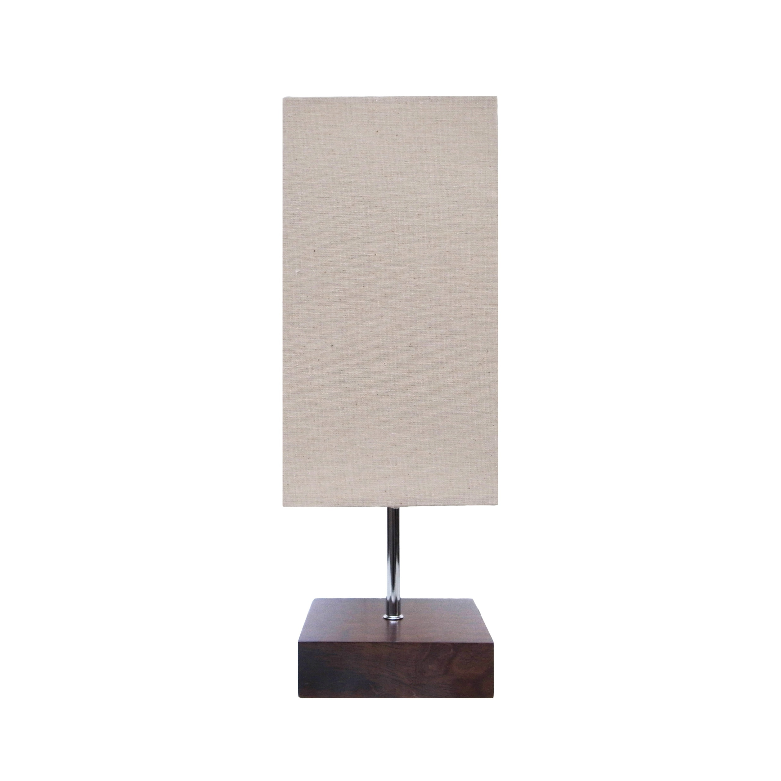 17 Clic Dark Wooden Table Lamp Square