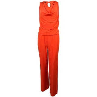 INC Women's Cowl Neck Elastic Waist Jumpsuit - s