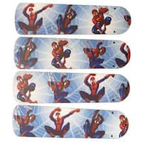 Spider Man Custom Designer 42in Ceiling Fan Blades Set - Multi
