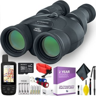 Canon 12x36 IS III Image Stabilized Binocular + Handheld GPS + Cleaning Kit + 2 Year Extended Warranty