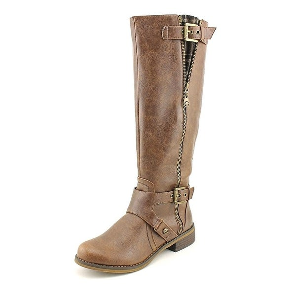 G by Guess Womens Hertlez Leather Round Toe Knee High Fashion Boots
