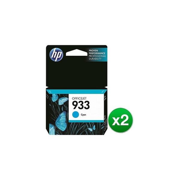 HP 933 Cyan Original Ink Cartridge (CN058AN)(2-Pack)