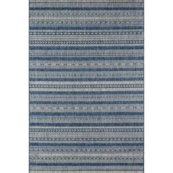 Momeni Tuscany Blue Or Copper Striped