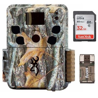 Browning Dark Ops HD Pro Trail Camera (Camo) with 32GB Card and Focus Reader - Camouflage
