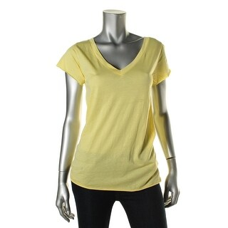 Zara Special-T Womens Sheer V-Neck T-Shirt - S