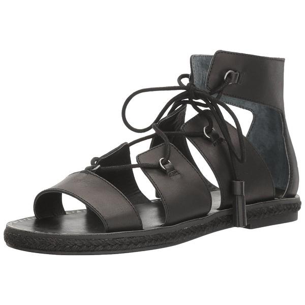 Lucky Brand Womens LK-Dristel Open Toe Casual Gladiator, Black, Size 10.0