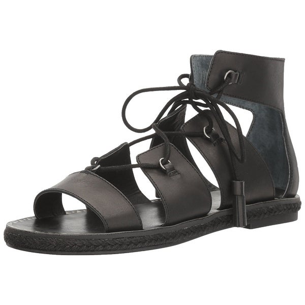 Lucky Brand Womens LK-Dristel Open Toe Casual Gladiator Sandals, Black, Size 8.0