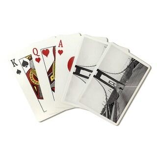 Tacoma, Washington - Nov3 7, 1940 - Narrows Bridge (Man on Bridge) - Vintage Photograph (Poker Playing Cards Deck)