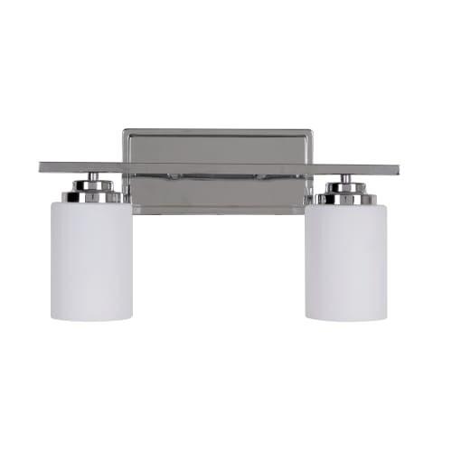 "Jeremiah Lighting 39702 Albany 2 Light Bathroom Vanity Light - 17"" Wide"