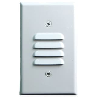 Elco ELST74 12V LED Vertical Mini Step Light with Louvered Faceplate