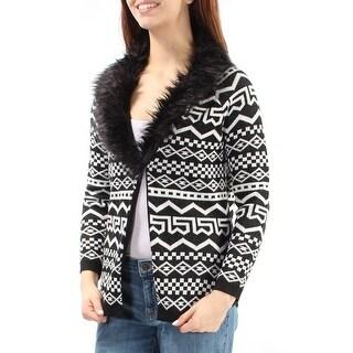 REBELLIOUS ONE $49 Womens New 2172 Black White Tribal Sweater M Juniors B+B