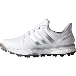 Adidas Men's Adipower Boost 2 White/Silver Metallic/Core Black Golf Shoes Q44659 / F33366