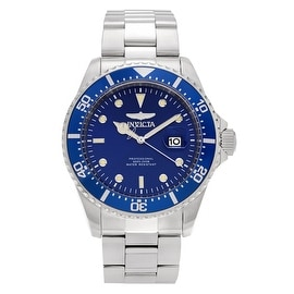 Invicta Men's 'Pro Diver' 22019 Stainless Steel Blue Dial Bracelet Link Watch