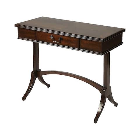 Offex Transitional Rectangular Wooden Coffee Writing Desk - Dark Brown