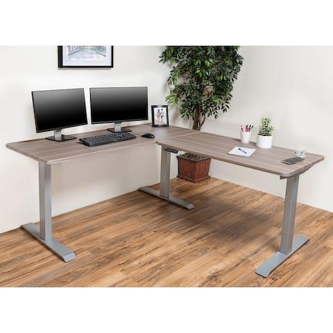 BRODAN Electric Standing Desk, Adjustable Height Office Desk, L Shape