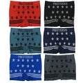 Men's 6-Pack Seamless Stars & Stripes Print Boxer Briefs - Thumbnail 0