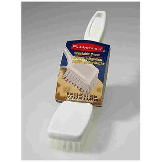 Rubbermaid G19312 Vegetable Cleaning Brush, 8-1/2, Plastic