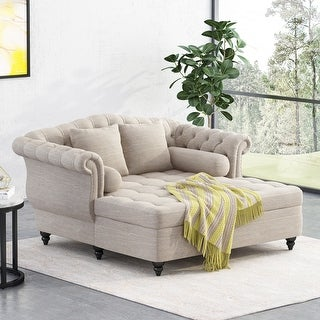 Christopher Knight Home Wellston Tufted Double Chaise Lounge