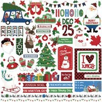 """O Canada Christmas Stickers 12""""X12""""-Elements"""
